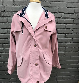 Jacket Blush Zip Jacket  w/ Hood