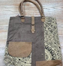 Bag Flower Design Canvas Tote Bag
