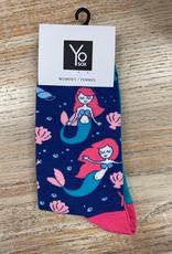 Socks Women's Crew Socks, BlueMermaid