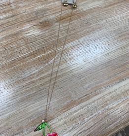 Jewelry Long Cherry Necklace w/ Earrings