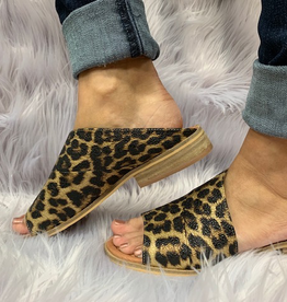 Shoes Leopard Slipon Sandal