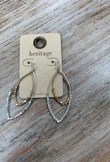 Jewelry Silver Gold Bead Teardrop Earrings