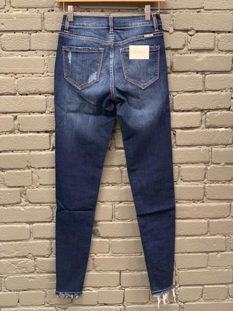 Pant High Rise Skinny Jean w/ Bottom Destruction
