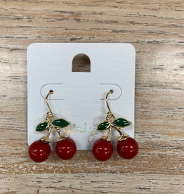 Jewelry Red Cherry Earrings