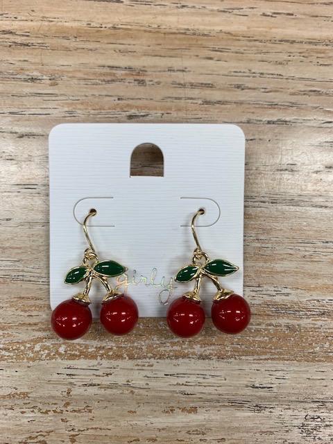Jewelry Red Cherry Earrings