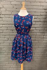 Dress Navy Cherry Tie Dress