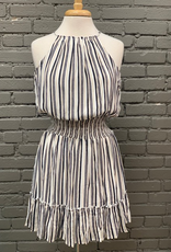 Dress Striped Woven Dress w/ Smocked Waist