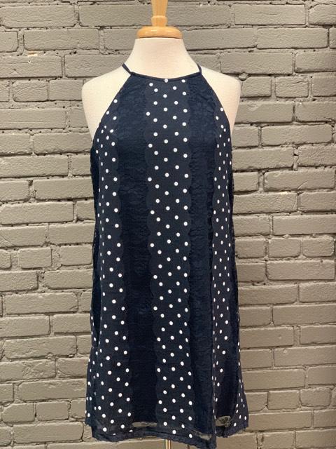 Dress Polka Dot Dress w/ Lace Detail