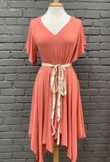 Dress T- Shirt Salmon Dress w/ Embroidered Back