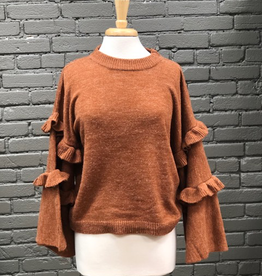 Sweater Ramsey Ruffle Sweater
