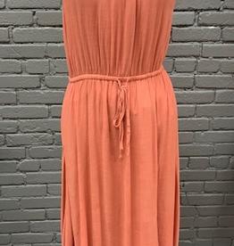 Dress Rust Long Halter Dress
