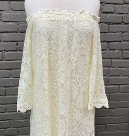 Dress Ivory OTS Floral Lace Dress