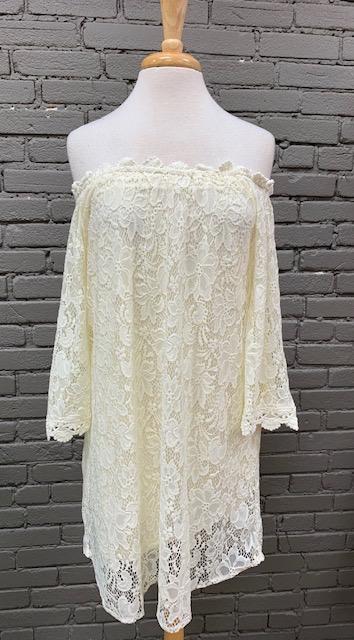 Dress Ivory OTS Floral Lace Dress