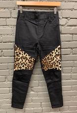 Leggings Black High Waist Leggings w/ Leopard