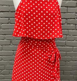 Dress Red Polka Dot Ruffle Dress