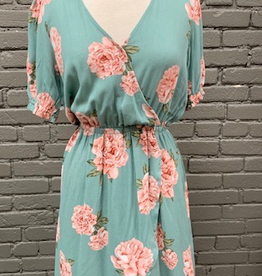 Dress Sage Floral HiLo Dress