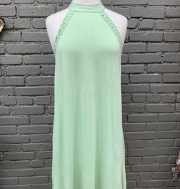 Dress Mint Halter Crochet Dress