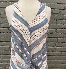Tank Multi Striped Twist Tank
