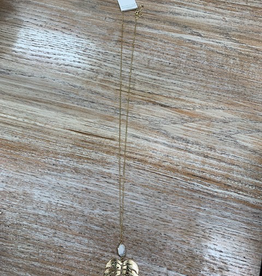 Jewelry Long Gold Leaf Necklace