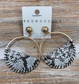 Jewelry Half Moon Snake Earrings
