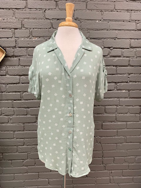 Shirt Olive Tied Collar Tee