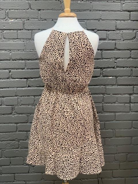 Dress Sleeveless Flounce Hem Dress