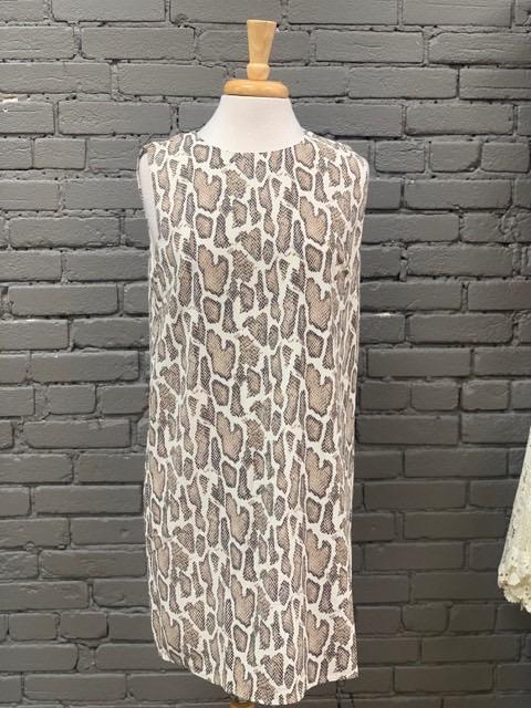 Dress Sleeveless Printed Snakeskin Dress