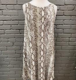 Dress Snake Print Dress w/ Pockets