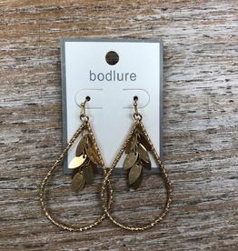 Jewelry Gold Teardrop Dangles Earrings
