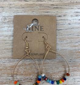 Jewelry Multi Color Hoop Earrings