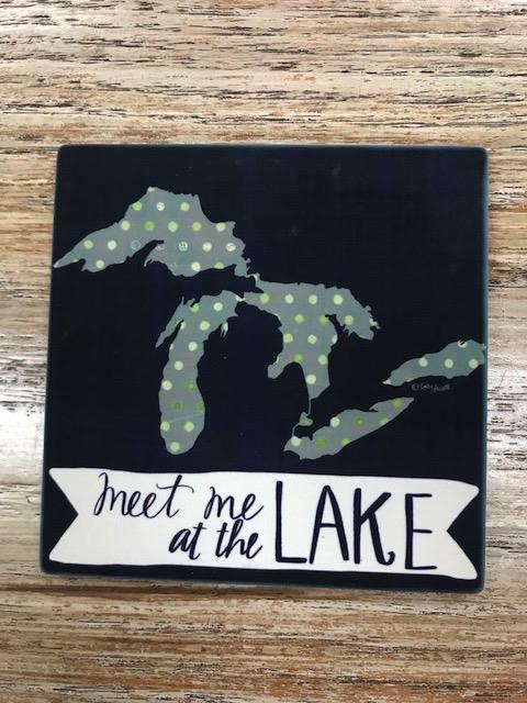 Kitchen Meet Me At The Lake Coaster