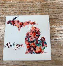 Kitchen Michigan Floral Coaster