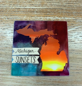 Kitchen Michigan Sunsets Coaster