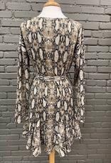 Dress Snakeskin LS Dress