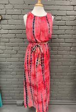 Dress Red TieDye Maxi Dress
