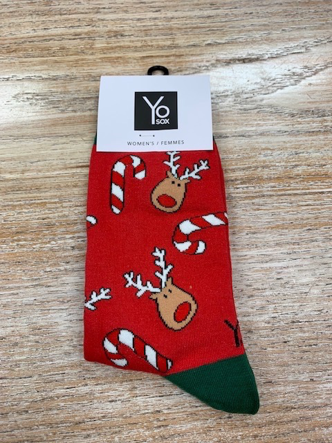 Socks Women's Crew Socks- Rudolph