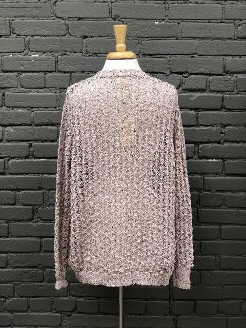 Cardigan Mauve Knit Cardigan
