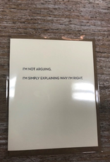 Card Not Arguing Card