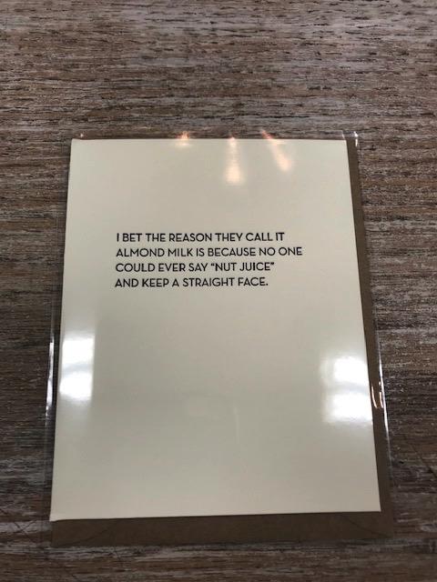 Card Nut Juice Card