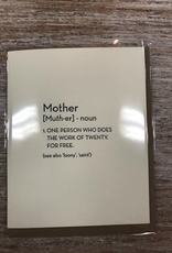 Card Mother Definition Card