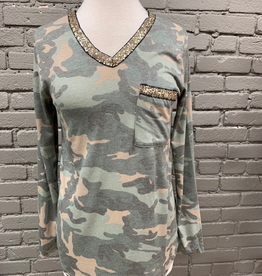 Long Sleeve LS Camo w/ Sequins