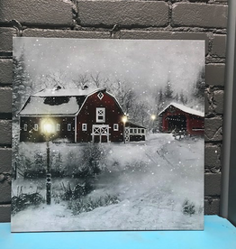 Decor LED Winter Farm Scene