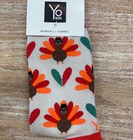 Socks Women's Holiday Socks, Red/OrangeTurkey