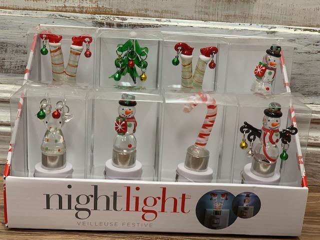 Decor Glass Christmas Night Light