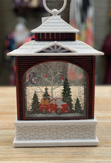 Decor LED Lantern Red Truck Santa