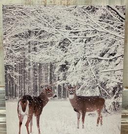 Decor LED Deer in Snow