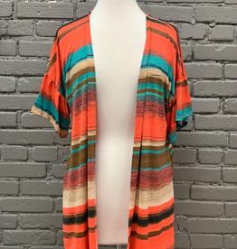 Kimono Multi Orange Color Kimono