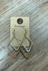 Jewelry Gold Silver Triangle Bead Earrings