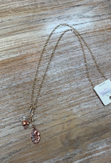 Jewelry Long Gold Football Necklace