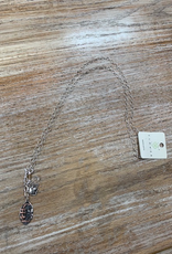 Jewelry Long Silver Football Necklace